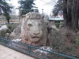 escultura de leon