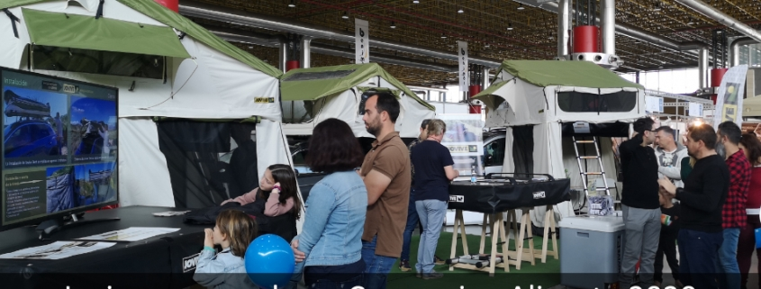 Vista general de la exposición de Jovive en el Caravaning Alicante 2020