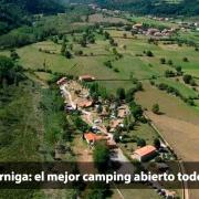 Vista aérea camping Cabuerniga