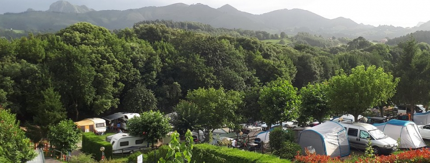 Vista aérea camping Ribadesella