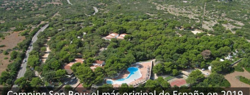 Vista aérea camping Son Bou Menorca