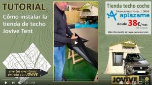 Video tutorial de como instalar la tienda para techo Jovie Tent