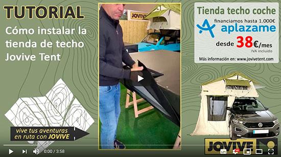 Ver video en YouTube de cómo instalar la tienda de techo para coche Jovive Tent