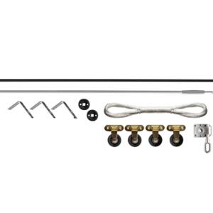 Detalle de piezas que contiene la polea de techo