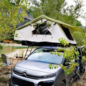 tienda campaña coche techo