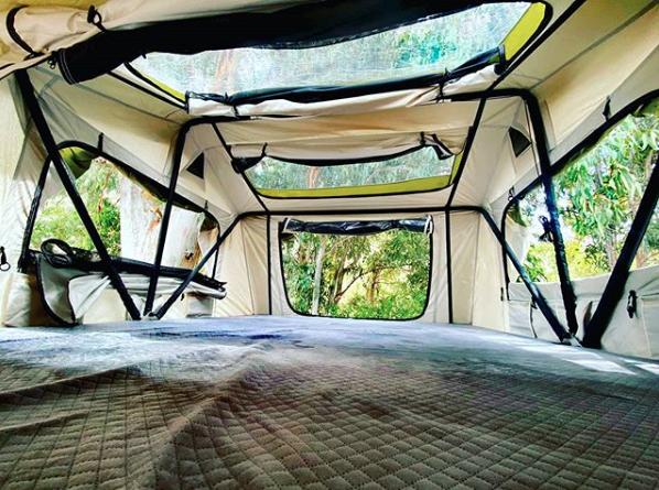 Tienda campaña techo coche